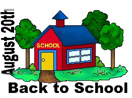 back to school August 20th