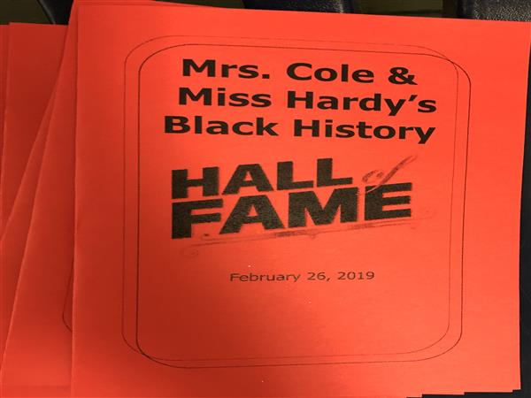 3rd Grade's African American Hall of Fame