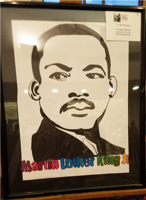 student artwork of mlk