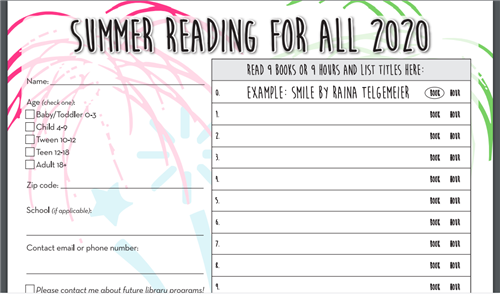 Summer Reading Card