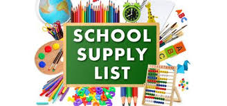 graphic that says school supply list