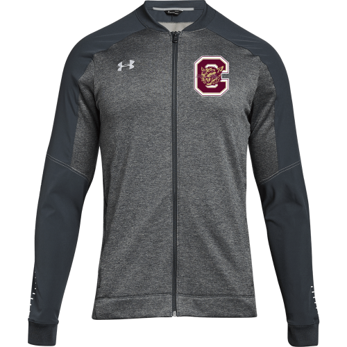 warm up jacket with Carver logo