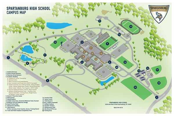 Spartanburg High School Campus Map