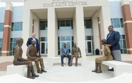 Sculpture Commemorates D7's Commitment to Racial Unity