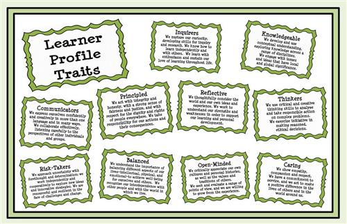 IB Learner Profile picture of the information below