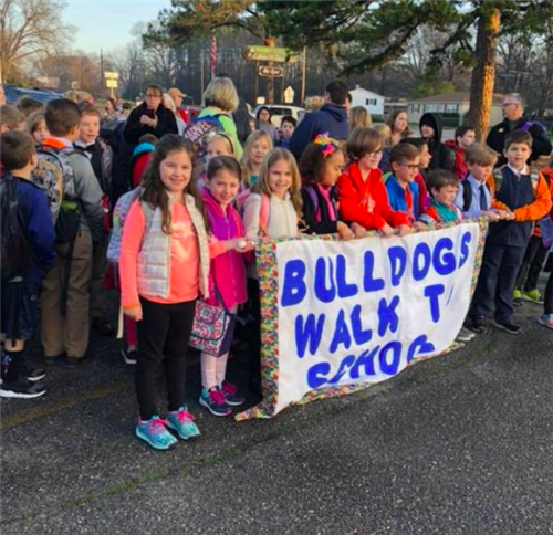JBE students at Walk to School Day