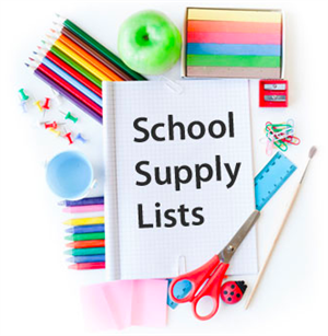 Supply Lists: 2020-2021 School Year